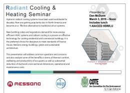 Radiant Cooling Heating Flyer update