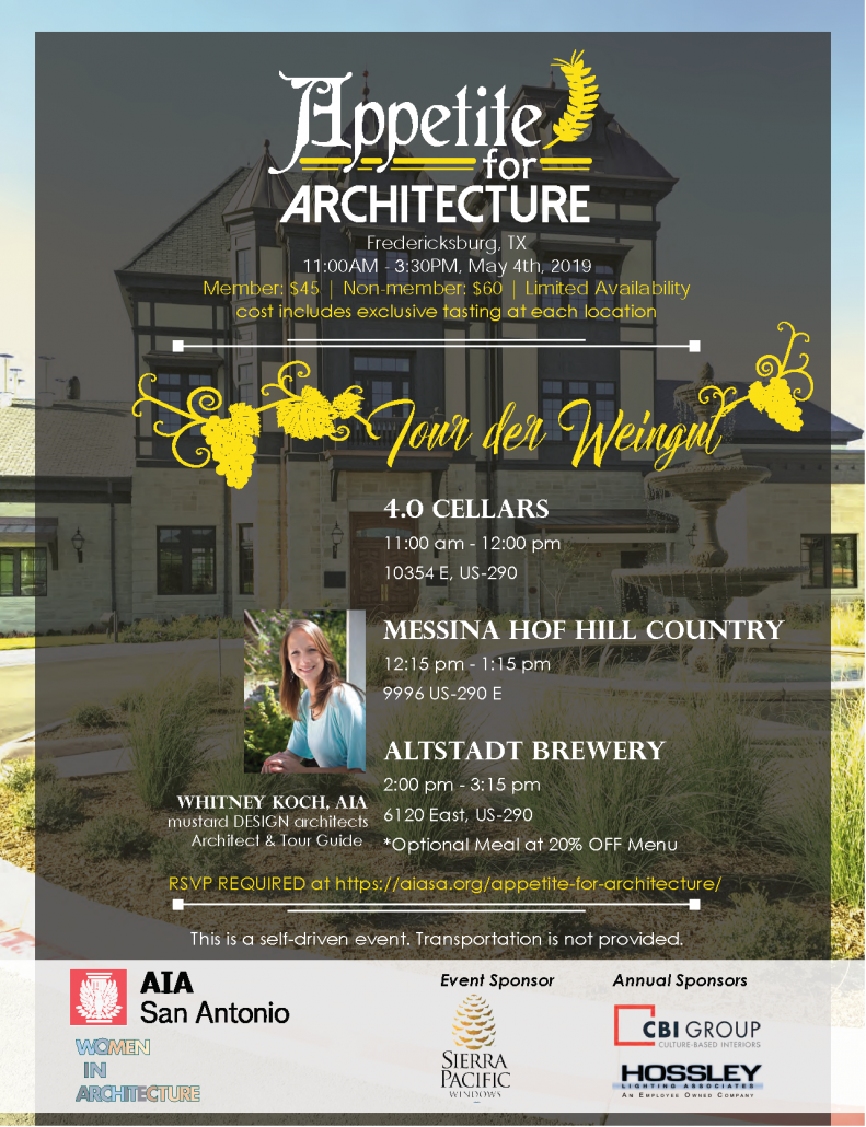 2019 Appetite for Architecture – AIA San Antonio