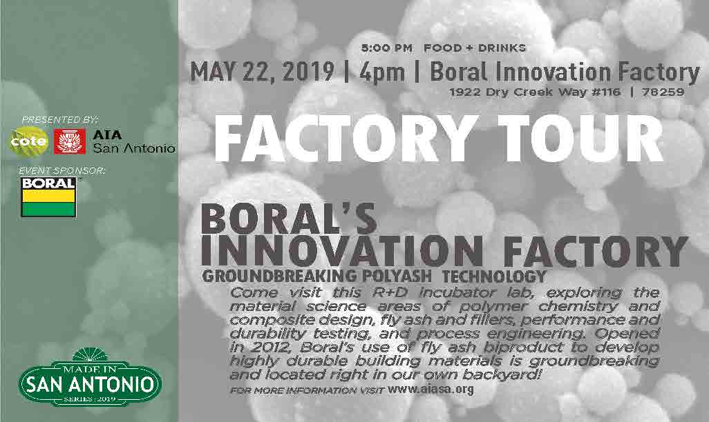 COTE Made in SA Tour - Boral Innovation Center @ Boral